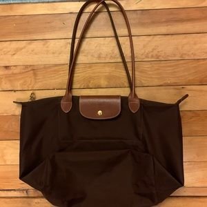 LongChamp Large Le Pilage Brown